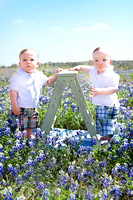 O. & M. Bluebonnet Session | San Antonio Children's Photographer